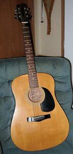 Fender Dreadnought acoustic guitar, Gemeni II, mint, Plush Case