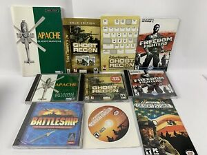 Pc Game Lot Freedom Fighters, Conflict Desert Storm, Battleship, Ghost Recon