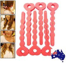 Sponge Hair Curler Roller Strip Heat less Roll Style 6pcs Soft Magic Tool
