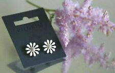 Daisies earrings with Swarovski crystals and enamel PILGRIM Gold Plated 13mm