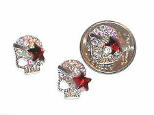 1 Pc Miniature dollhouse tiny Halloween crystal sparkly girl Star bone SKULL