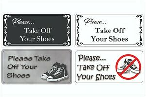 Custom Sticker Please Take Off Your Shoes Sticker Vinyl Decal