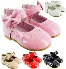 KIDS BABY TOODLER INFANTS GIRLS MARY JANE SHINY PATENT BOW SPANISH PARTY SHOES