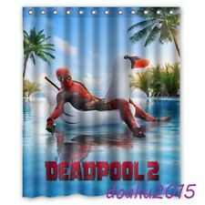 Deadpool 2 In Swimming Pool Marvel Movie Custom Shower Curtain 60 X 72 Inch
