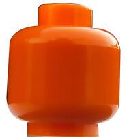 Lego 2 Stück einfarbiger Kopf in orange unbedruckt Neu plain 3626c City Basics