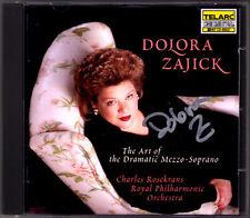 Dolora Zajick signed the art of the Dramatic Mezzo-soprano verdi Mussorgsky CD