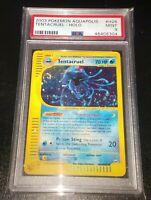 Tentacruel Aquapolis H26/H32 PSA 9 MINT Holo Swirl e-Series WOTC Pokemon Card