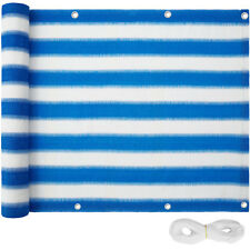 Brise vue pour balcon protection visuelle solaire pare-vent 90x500cm bleu-blanc