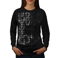 Wellcoda Leaf Plant Art Womens Sweatshirt, Chamber Casual Pullover Jumper