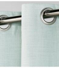 Threshold Natural Solid with Grommets Curtain Aqua (Light Blue) 54 x 84 NWOT