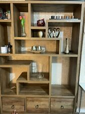 Living room shelf unit / book case in light brown made of wood in good condition