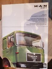 Prospekt Sales Brochure MAN 19.321 U Unterflur Fernverkehrs Luxusfahrerhaus LKW
