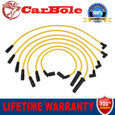 Yellow One Set of 7PCS 8mm Spark Plug Wire For CHEVROLET GMC V6 4.3L 1996-2005