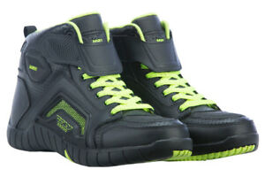 Fly Street M21 Leather Motorcycle Riding Shoes (Hi-Vis) Choose Size