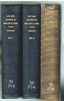 Life & Letters of Walter H. Page by Burton Hendrick 1922 3 Vol. Rare Book! $