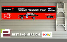 Ford RS Escort Mk 2 Colin Mcrae Garage Banner for Workshop, Retro, Motorsport