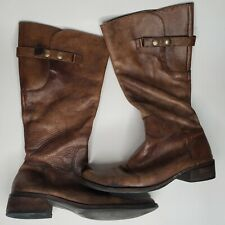 Women's MATISSE Brown Leather Tall Riding Cowboy Made in Brazil Boots Sz 9.5 M