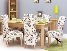 Oak Up to 6 Modern 7 Table & Chair Sets
