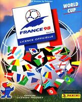 Panini WM 1998 5 Sticker aussuchen choose pick World Cup WC 98 France Black Back