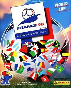 Panini WM 1998 5 Sticker aussuchen choose pick World Cup WC 98 France Black Back