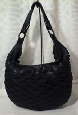 Nixon Genuine Leather Black Medium Hobo Exclusive Design Handbag Pre Owned Euc