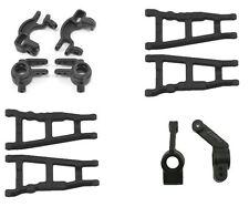 RPM Traxxas Slash 4X4 Black Front & Rear Suspension Arms and Complete Hub Set