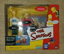 Playmates World of Springfield Interative The Simpsons Marty & Bill
