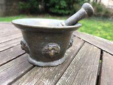Ancien Mortier Bronze . Haute Epoque . Pilon Apothicaire Pharmacie