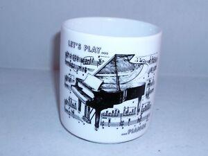 Kaffeebecher  Becher Tasse Henkelbecher Piano Noten Musik schwarz Sonderpreis