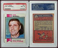 1973 Topps #414 Earl Morrall PSA 8 Near Mint NFL Football Card Miami Dolphins QB