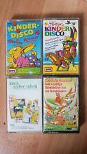 4 Musik Kassetten Kinder Kinderlieder Gesschichten Hörspiel Hörbuch