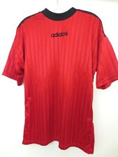 Vintage 1990s ADIDAS Classic T-Shirt Soccer Jersey Red/Black Size SMALL