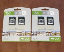2 Pack PNY 16GB microSDHC Flash Card 2-pk Elite 85 MB/s Class 10 UHS-1, 4x Cards