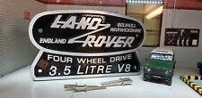 Land Rover Defender Series Stage One 3.5 V8 Cast Tub Station Wagon Badge 90 110