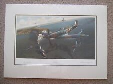 Adrian Rigby, Channel Combat Signed Mounted Limited Edition Aviation Plane Print