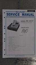 Sharp xe-1015 service manual original repair book cash register printer m-623