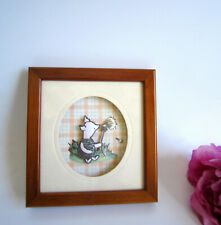 Disney's Piglet framed picture, De'coupage by Living Pictures, John Ellam.