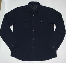 Preowned- Uniqlo Button Front Navy Quilted Jacket Mens (Size M)