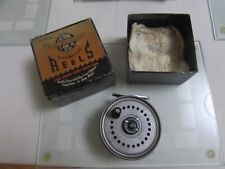 """V good vintage youngs early beaudex trout fly fishing reel 3.5"""" lineguard & box."""