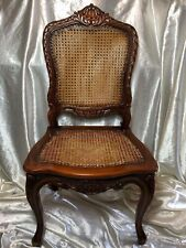 1 Vintage Original Handmade Walnut Wood Cane Colonial Style London Office Chair