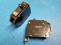 """LOT 2 - 20 Amp Single Pole 1"""" General Electric GE Breakers Bolt On Type THQB"""