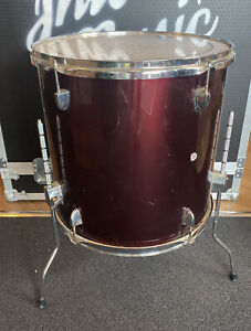 """16"""" Floor Tom With Red Wrap #644"""
