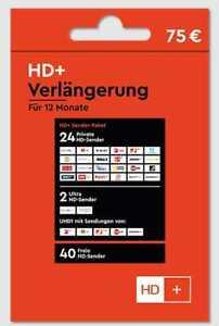 HD+ Verlängerung per Mail 12 Monate HD01 HD02 HD03 HD04 HD05 Karte SAT Empfang
