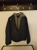New Without Tags MEN'S WILSON Leather BLACK RIVET JACKET - SIZE M