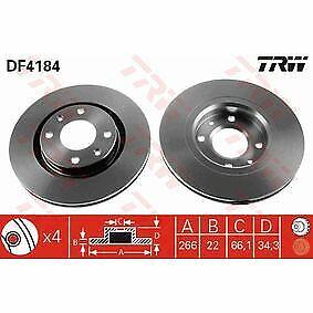 TRW DF4184 discos de frenos Citroen Peugeot Opel DS