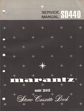 Marantz Service Manual Model SD440 Cassette tape deck player factory Repair Book