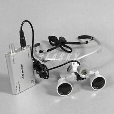 Dentaire LED Head Light Lamp with 3.5X Surgical Binocular Loupes Glasses