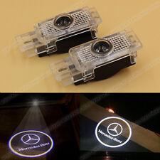 2x LED Door Courtesy Laser Projector Shadow Lght Mercedes Benz C SLK CLK SLR