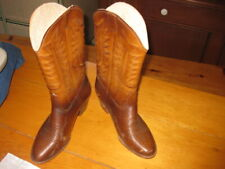 vintage 1960 Brown  Rubber boots winter western fleece lined USA 8