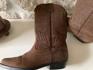 Cowboy/Western  Stiefel Gr 36 Braun Echtleder Joe Sanchez